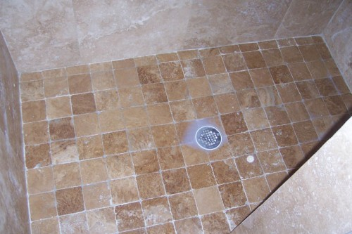 Finck House Bathroom Shower Tile