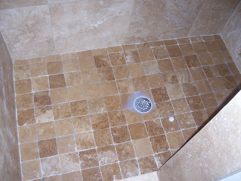 Finck House Bathroom Shower Tile