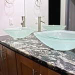 Granite with Frosted Sink Bowls