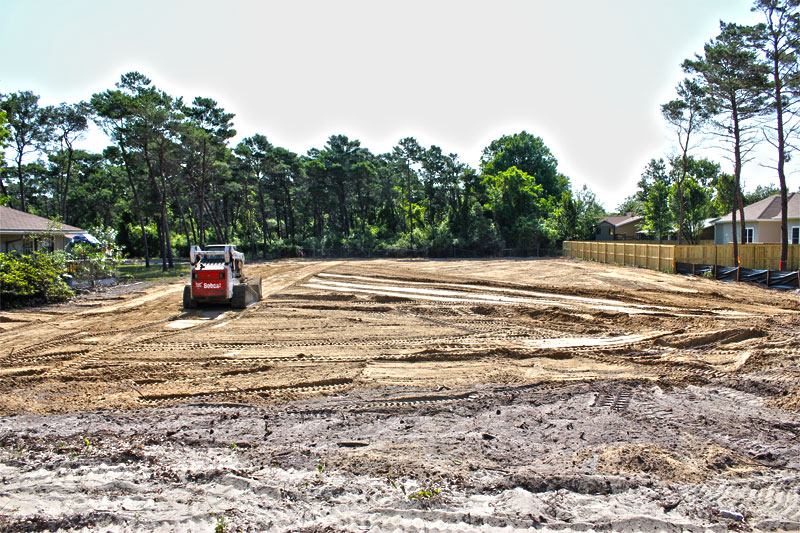Clearing lot for icf home on benning drive in destin jp for Icf homes for sale in florida