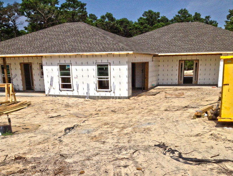 Framing roof windows and doors complete on icf home for Icf homes for sale in florida