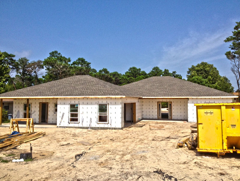 Framing roof windows and doors complete on icf home for Icf houses for sale
